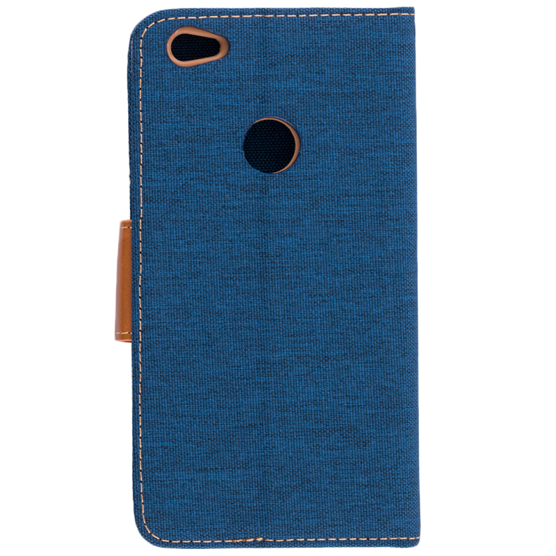 Husa Xiaomi Redmi Note 5A Book Canvas Bleu
