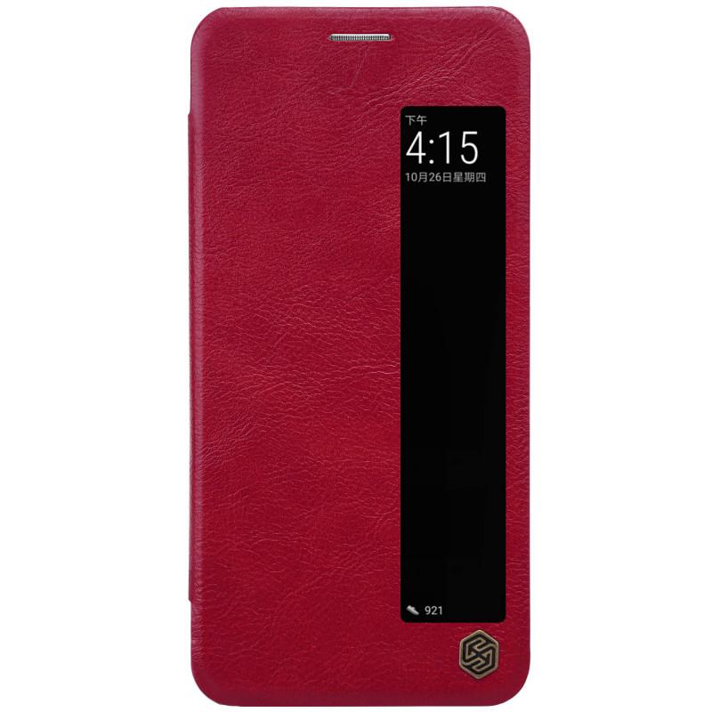 Husa Huawei P20 Flip Nillkin S-View QIN Rosu