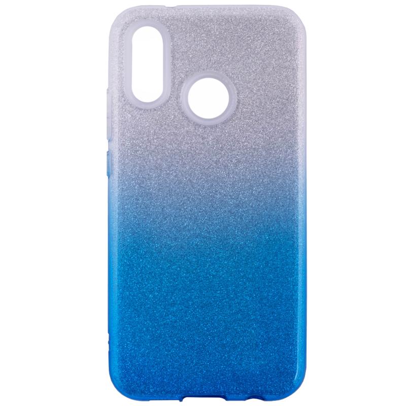 Husa Huawei P20 Lite Gradient Color TPU Sclipici - Albastru