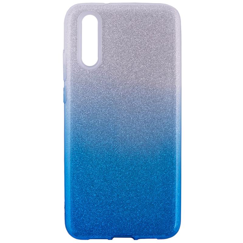 Husa Huawei P20 Gradient Color TPU Sclipici - Albastru