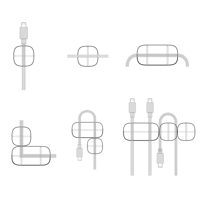 Suport Cable Clip Baseus Cross Peas pentru Birou - Negru