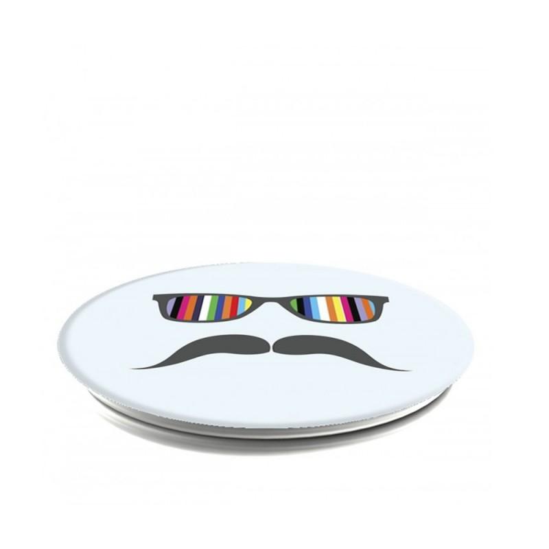 Popsockets Original, Suport Cu Functii Multiple - Mustache Rainbow