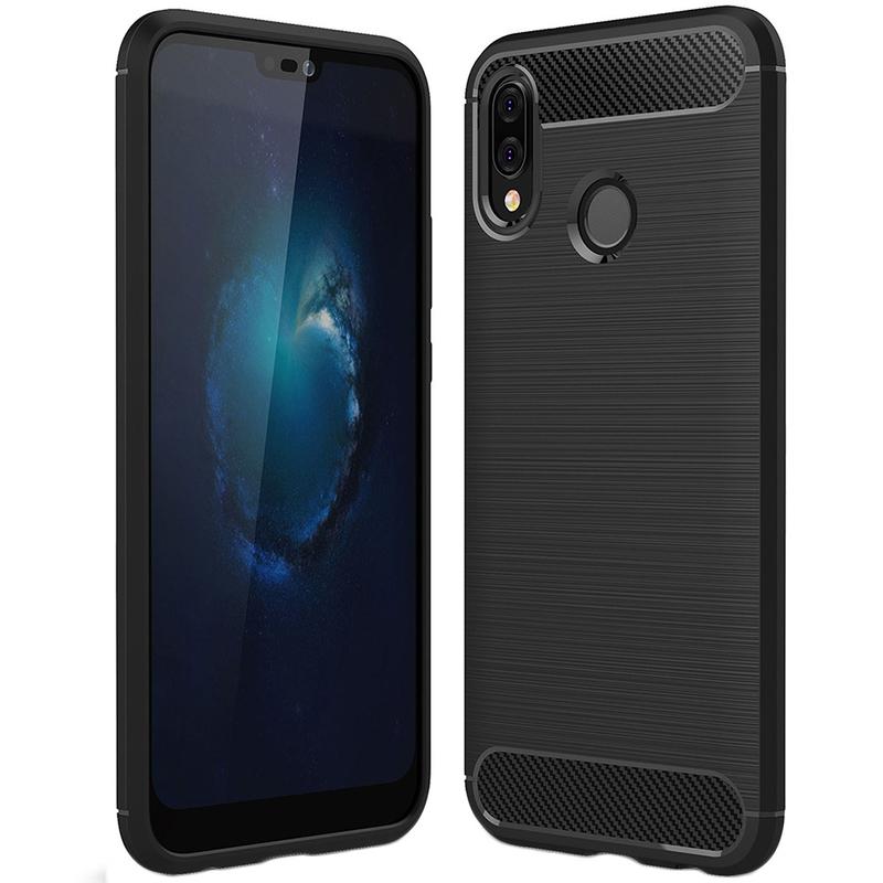Husa Huawei P20 Lite TPU Carbon Negru