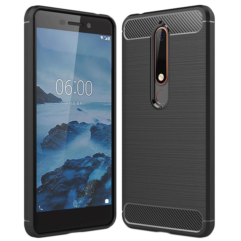 Husa Nokia 6 2018 TPU Carbon Negru