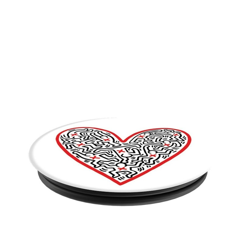 Popsockets Original, Suport Cu Functii Multiple - Cross My Heart by Keith Haring