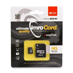Card de memorie Imro Micro SDHC 8 GB Class 4 + Adaptor SD