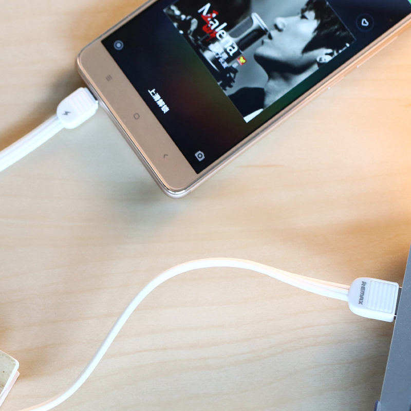 Cablu de date Micro-USB Remax Knight RC-045m - Alb