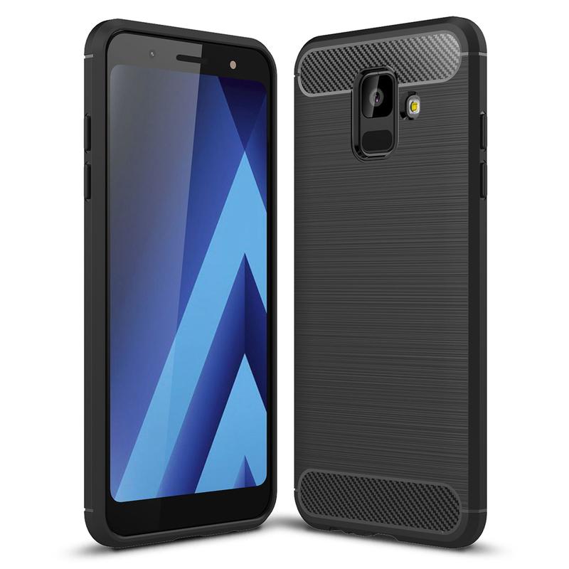 Husa Samsung Galaxy A6 2018 TPU Carbon Negru
