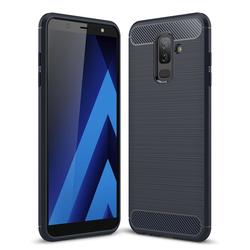 Husa Samsung Galaxy A6 Plus 2018 TPU Carbon Albastru