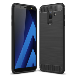 Husa Samsung Galaxy A6 Plus 2018 TPU Carbon Negru