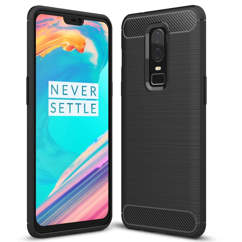 Husa OnePlus 6 TPU Carbon Negru